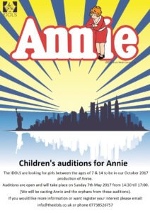 annie children auditions